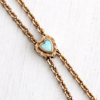 Antique 10k Rose Gold Heart Opal Slide Charm on Gold Filled Necklace - Victorian Long Layered Gold Filled Fob Pocket Watch Jewelry