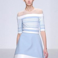 Bqueen Star Style Fashion Mesh Printed Dress #spring #stripes #pastel