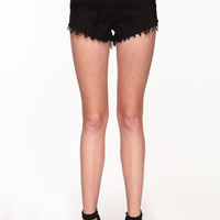 STUDDED CUT OFF SHORTS