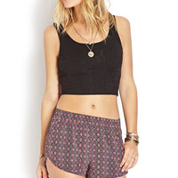 Geo Girl Running Shorts
