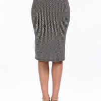 Dot The I Midi Skirt