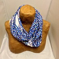 Colorful Knit Scarf - Coming Undone - Patterned Scarf