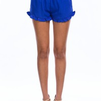 You're A Flirt Ruffle Trim Shorts