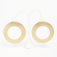 TEXTURED ROUND EARRINGS