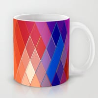 Re-Created Vertices No. 18 Mug by Robert S. Lee
