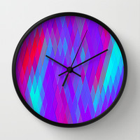 Re-Created Vertices No. 17 Wall Clock by Robert S. Lee