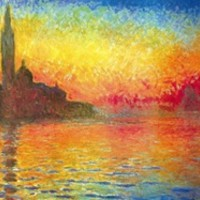 A Monet Sunset Over Venice - Cheap Essentials For College Decor