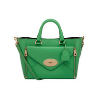 Small Willow Tote in Queen Green Silky Classic Calf | Women's Bags | Mulberry