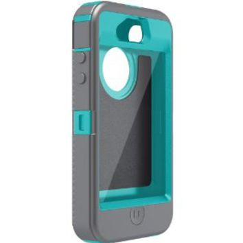 SuperBox Protector - Generic for Otterbox Defender iPhone 4 4S - Mulitple Colors (Ice Cap (Grey/Teal))