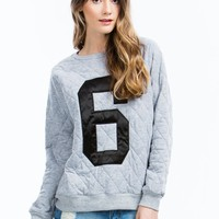 Quilted Number 6 Sweatshirt