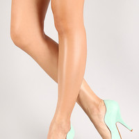 Mia-10 Curved Peep Toe Pump