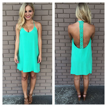 Mint Darla Oversize T-Back Dress