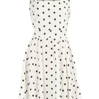 White/black spot dress - Dorothy Perkins
