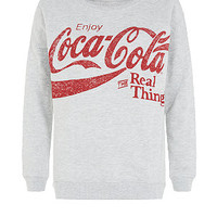 Grey Real Coca Cola Sweater