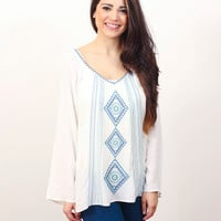 Embroidered Medallion Top » Vertage Clothing