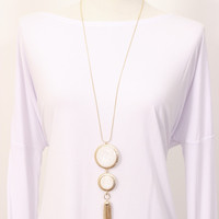 Tassel Necklace White » Vertage Clothing