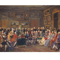 The First Reading at Mme Geoffrin's of Voltaire's Tragedy L'Orphelin de La Chine, 1755 Giclee Print by Anicet-Charles Lemonnier at Art.com