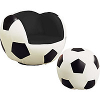 Sport Soccer Chair and Ottoman