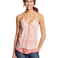 Jolt Women's Lace Top with Contrast Bottom