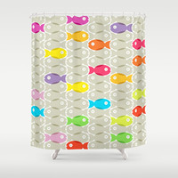 Fish #2 Shower Curtain by Ornaart