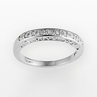 "Sterling Silver 1/10-ct. T.W. Diamond ""I Love You"" Promise Ring"