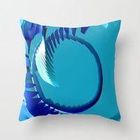 Curveball Throw Pillow by Eric Rasmussen