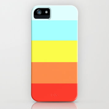 Rainbow Stripes 2 iPhone & iPod Case by KrashDesignCo.