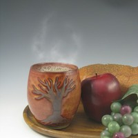 Tree Tumbler | ClyburnPottery - Ceramics & Pottery on ArtFire