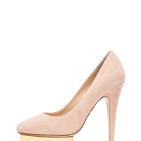 Cindy Suede Pumps in Blush