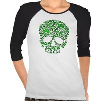St Patricks Day Shamrock Skull