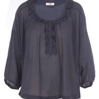 Buy DAY BIRGER ET MIKKELSEN Ruffle front blouse from Matches Fashion