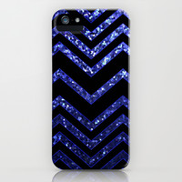 ZigZag Blue Sparkley G193 iPhone & iPod Case by MedusArt