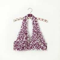 Free People Floral Galloon Halter