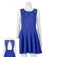 Trixxi Cutout Skater Dress - Juniors