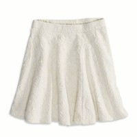 AE TEXTURED CIRCLE SKIRT