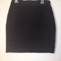 Black Ruffle Tiered Mini Skirt By Forever 21 Size L