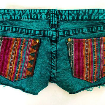 Tribal Aztec Navajo Southwestern Ethnic Print Cut Offs by GirlMeetsClothes on Etsy