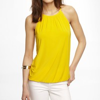 SILKY HIGH NECK BLOUSON CAMI