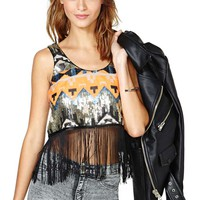 Nasty Gal Poison Arrow Sequin Crop Tank