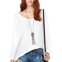 Nasty Gal Night Bells Tunic - White