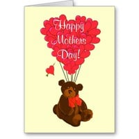 Romantic teddy bear mothers day