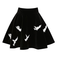 Zancig Embroidered Velvet Mini Skirt by Olympia Le-Tan - Moda Operandi