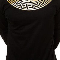 The Greco Chain Gang LS Tee in Black