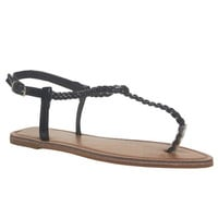 Braided T-Strap Sandals | Wet Seal