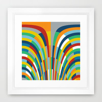 Rainbow Bricks #2 Framed Art Print by Project M