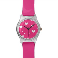 Pink Hearts - Wrist Watch