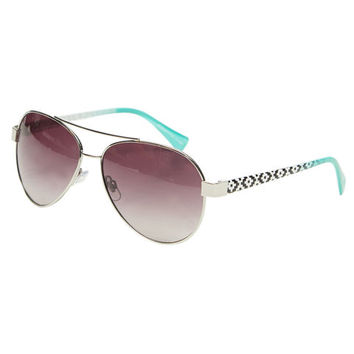 Tribal-Inspired Ombre Aviator Sunglasses | Wet Seal