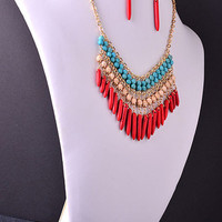 No Boundaries Necklace - Coral Red - Hazel & Olive