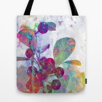 Painted Berries Tote Bag by Sandy Moulder