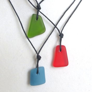 Sea Glass Trio Necklace by Wave of Life